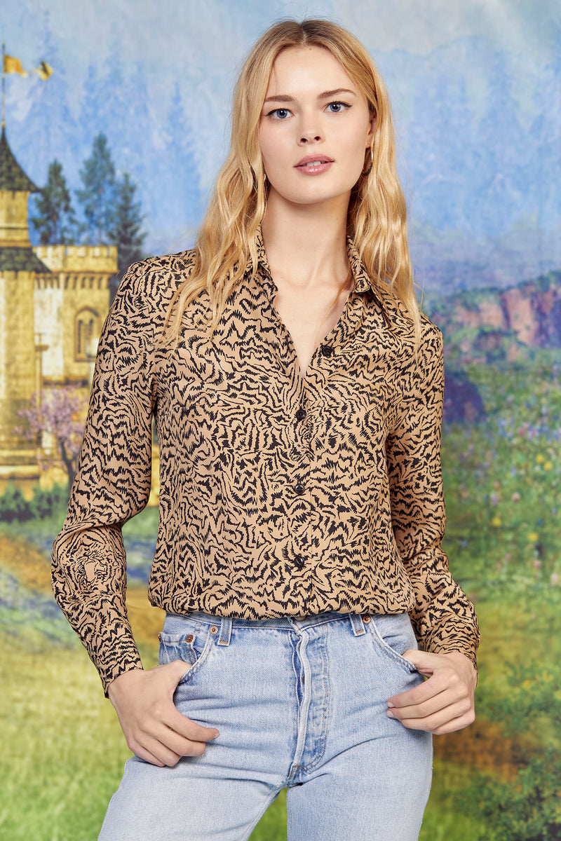 Brown Tiger Cristina Blouse