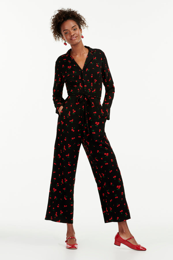 Black Cherry Gia Jumpsuit