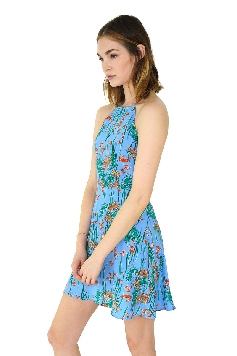 Under The Sea Mini Reece Halter Back Dress