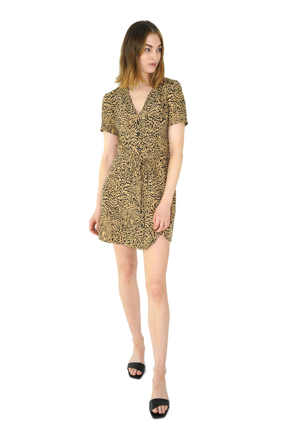 Brown Tiger Mini Rosemary Dress