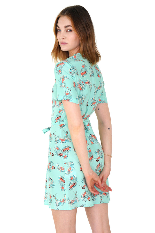Mint Surfer Mini Rosemary Dress