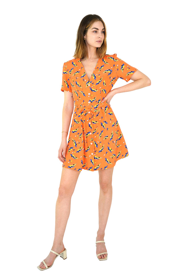 Orange Swimmers Mini Rosemary Dress