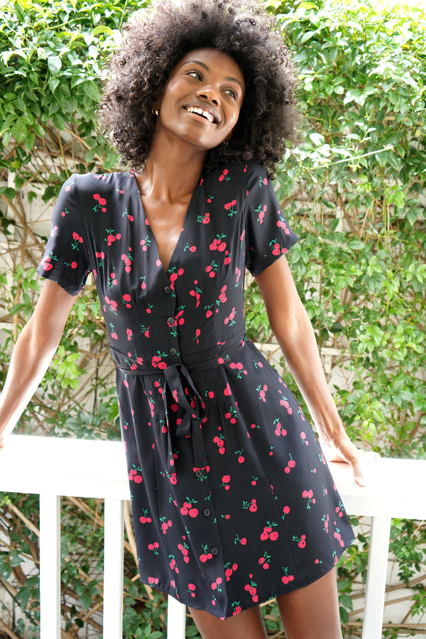 Black Cherry Mini Rosemary Dress