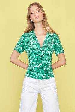 Green Montana Barn Dylan Short Sleeve Top