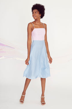 Combo Gingham Nora Dress