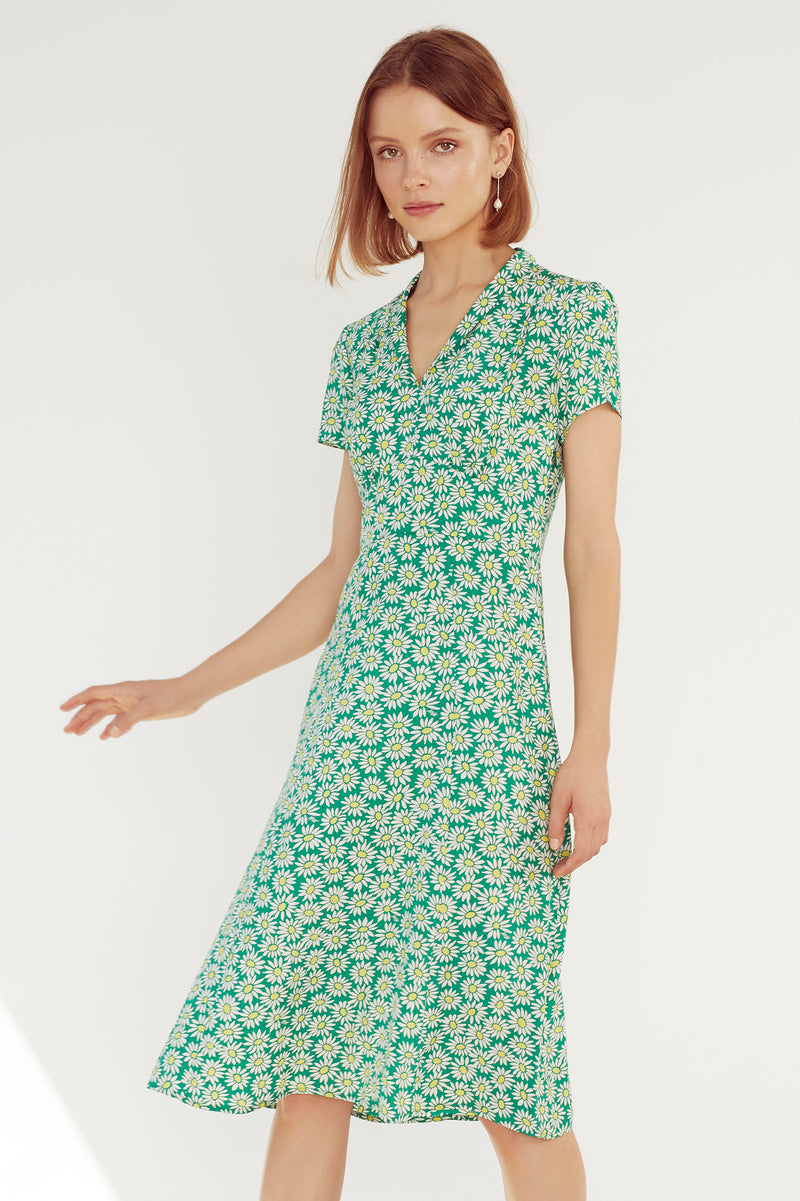 Green Daisy Morgan Dress