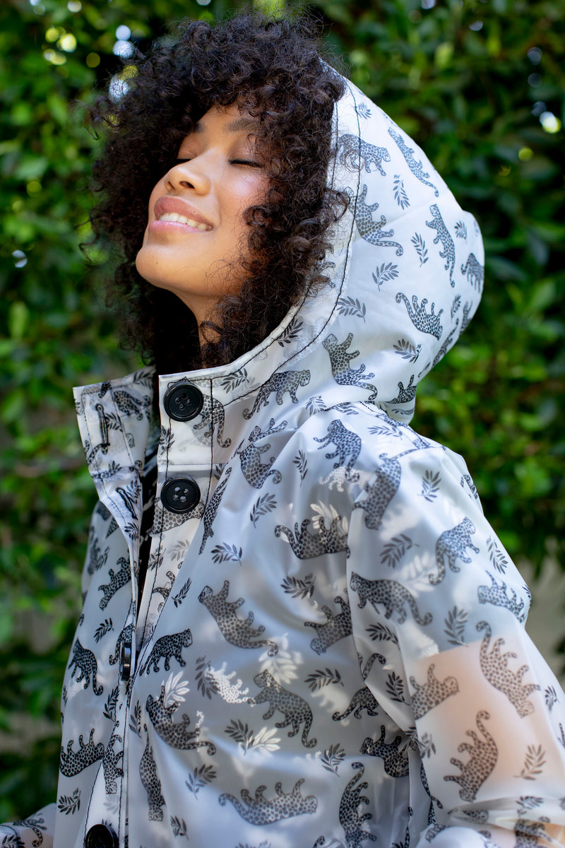 Leopard Jack Hooded Rain Coat