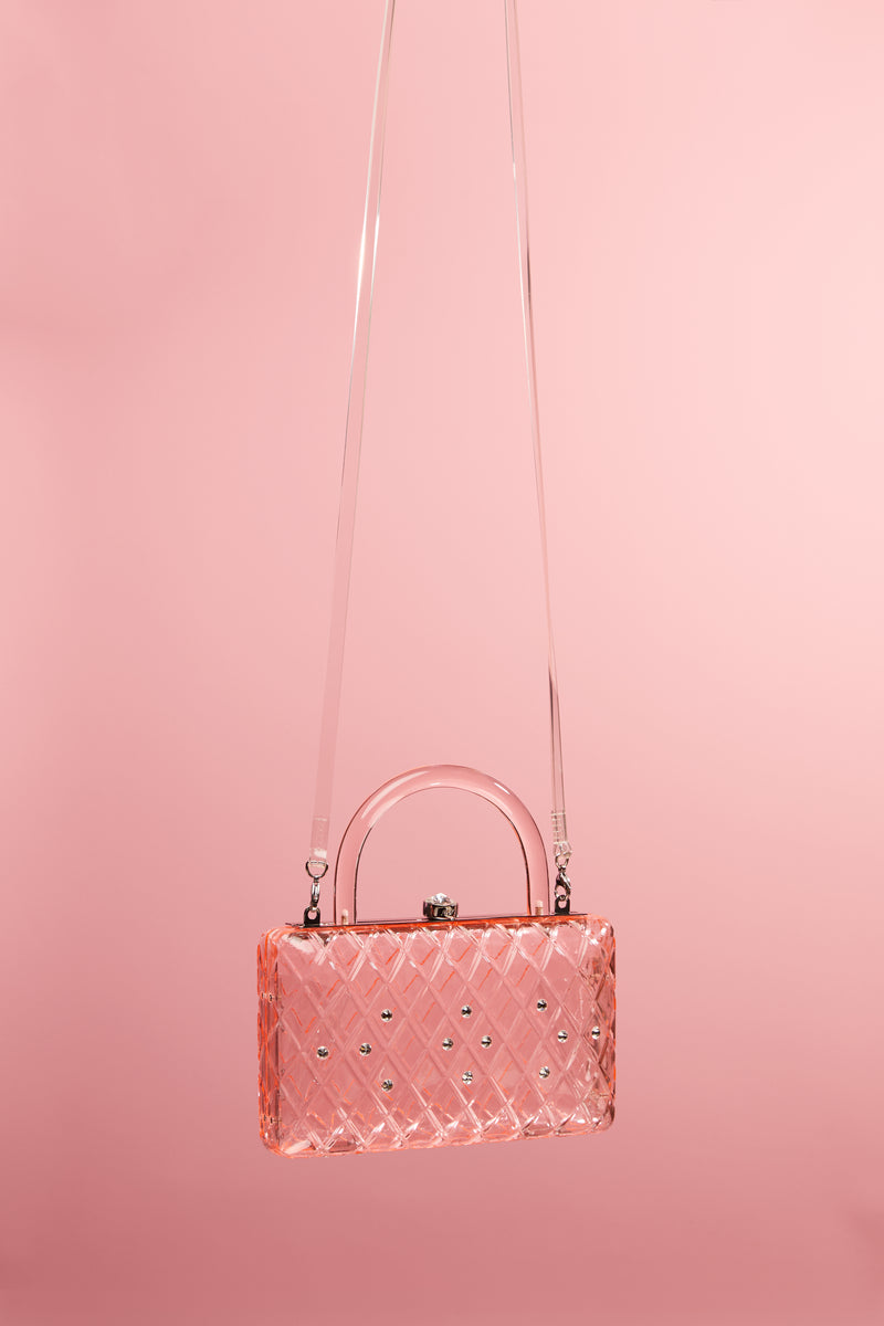 Pink Rio Resin Clutch