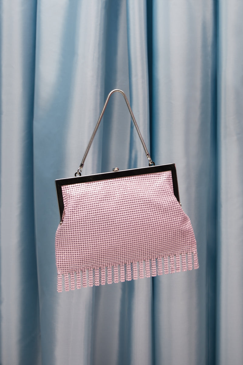 Pink Zoe Chainmail Bag