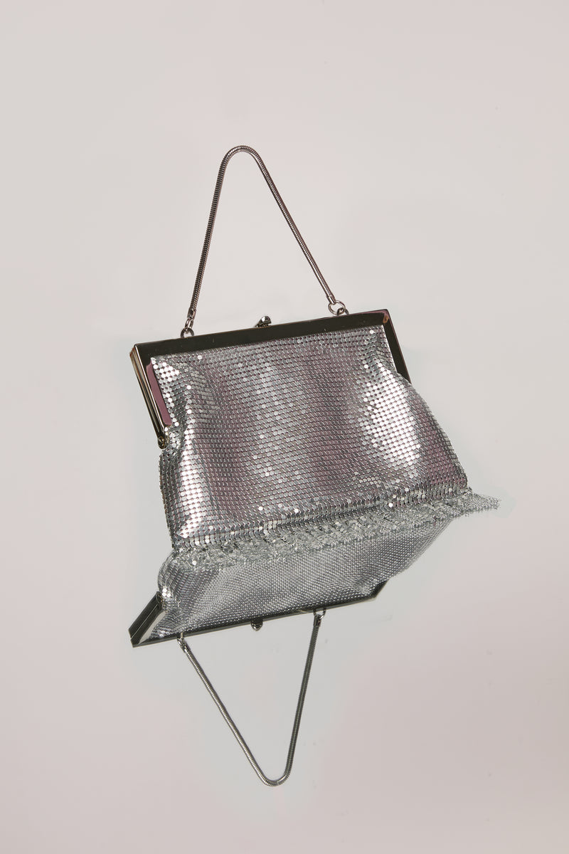 Silver Zoe Chainmail Bag
