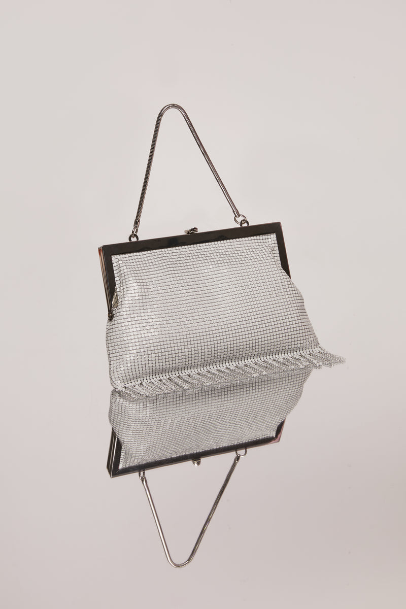 White Zoe Chainmail Bag