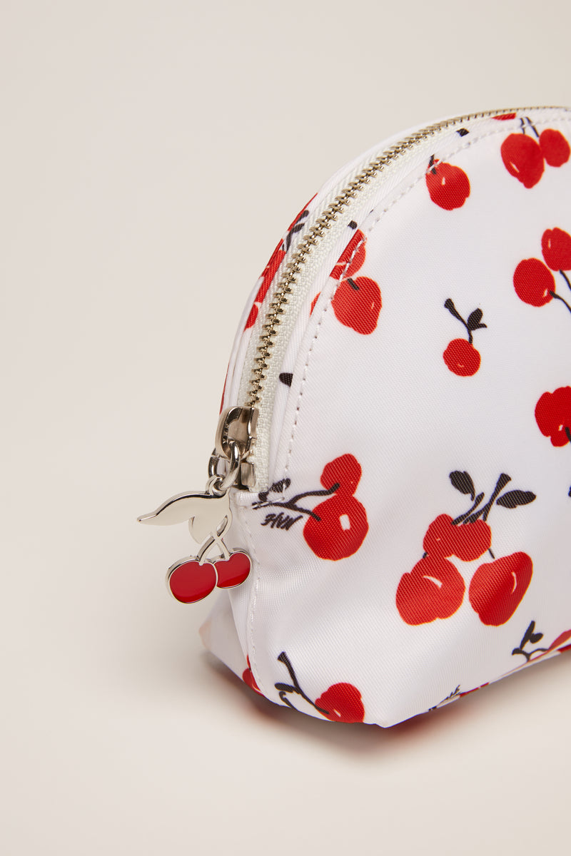 Cherry Printed Cosmetic Case