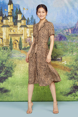 Brown Tiger Maria Dress