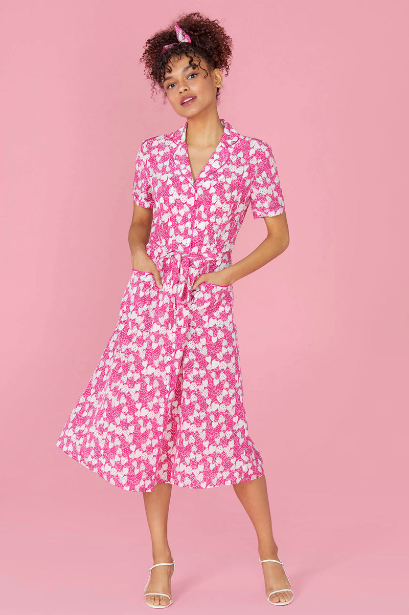Hot Pink Strawberry Maria Pajama Dress