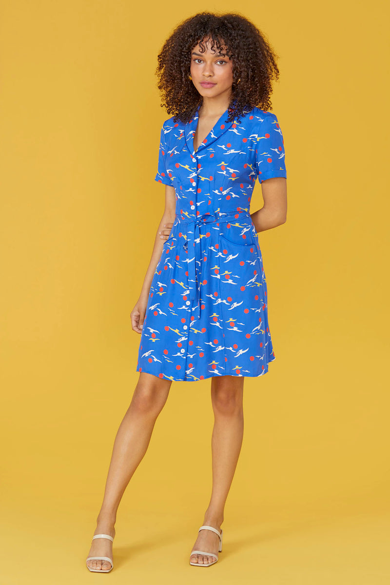 Blue Seagull Mini Maria Dress