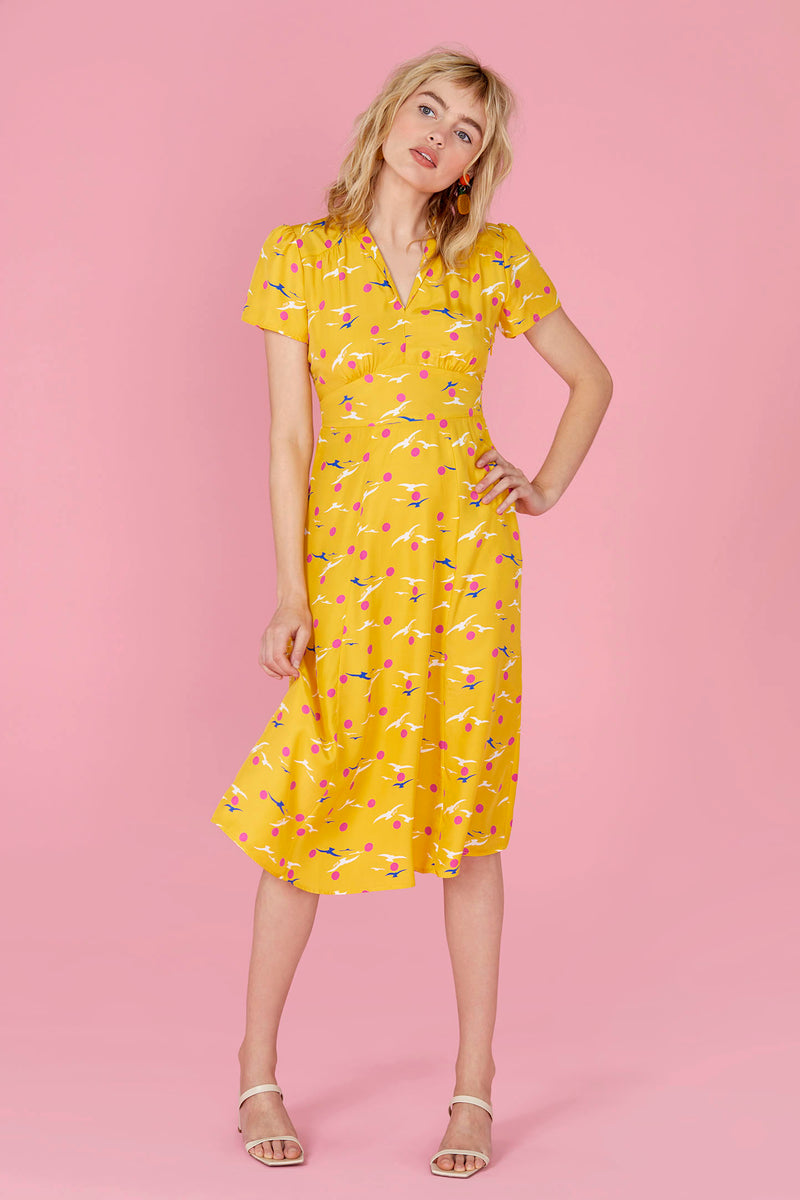 Yellow Seagull Morgan Dress