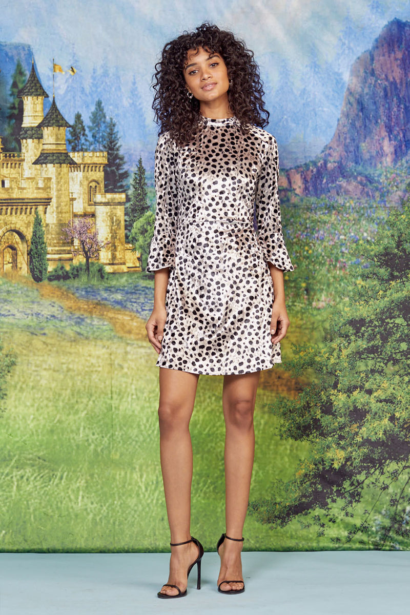 Velvet Leopard Mini Ashley Dress