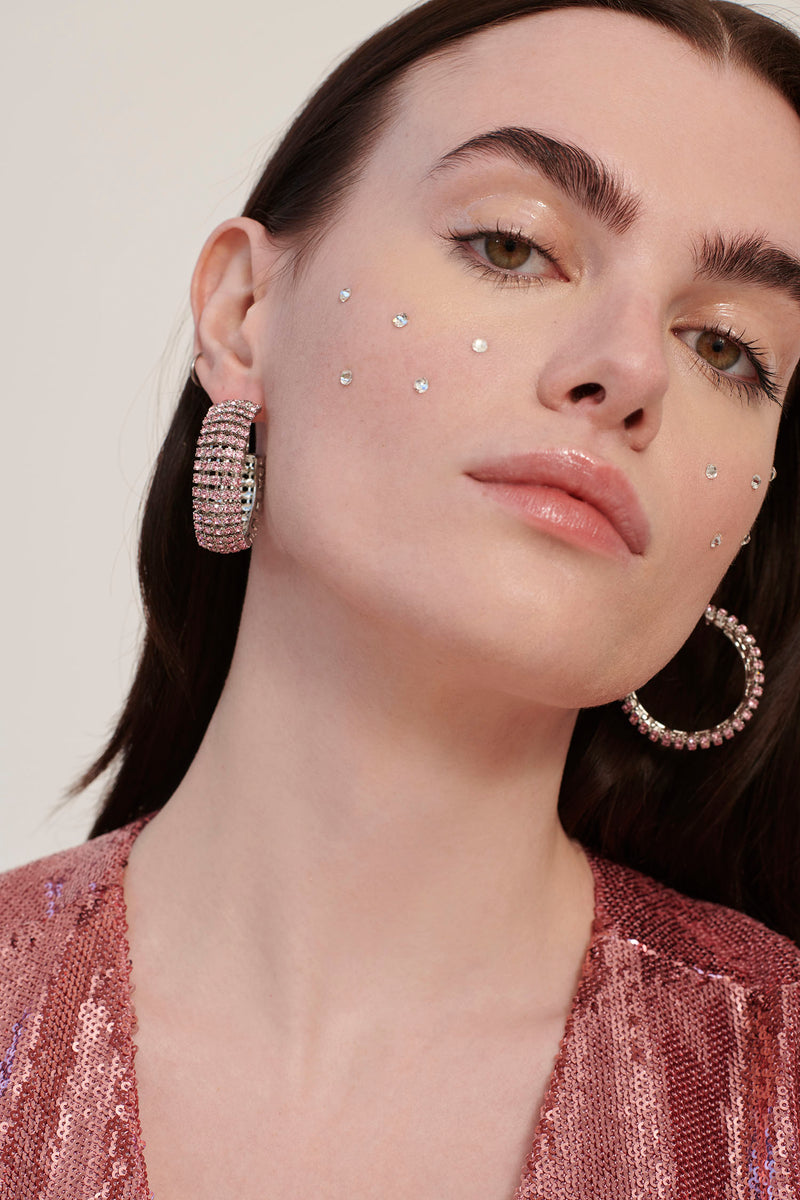 Pink Jupiter Crystal Earrings