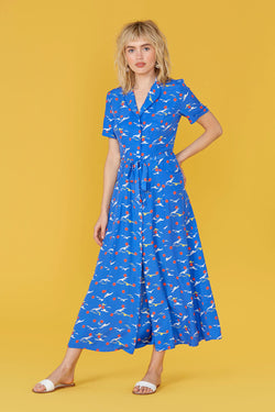 Blue Seagull Long Maria Pajama Dress