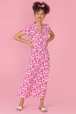 Hot Pink Strawberry Long Morgan Dress