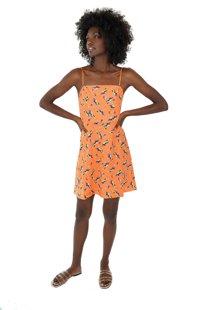 Orange Swimmers Mini Nora Dress