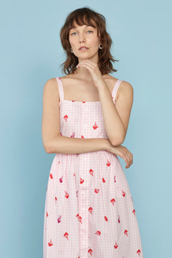 Gingham Ice Cream Laura Cotton Dress
