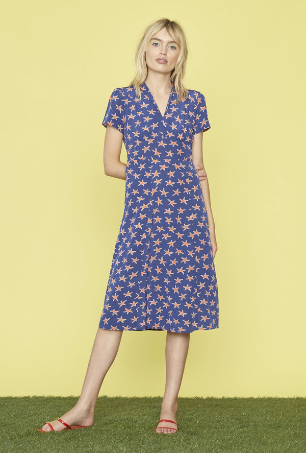 Navy Starfish Morgan Dress