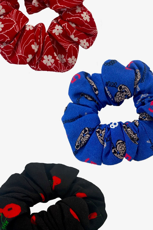 Crepe Scrunchie Set of 3