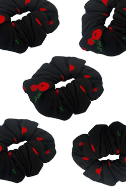 Black Cherry Crepe Scrunchie