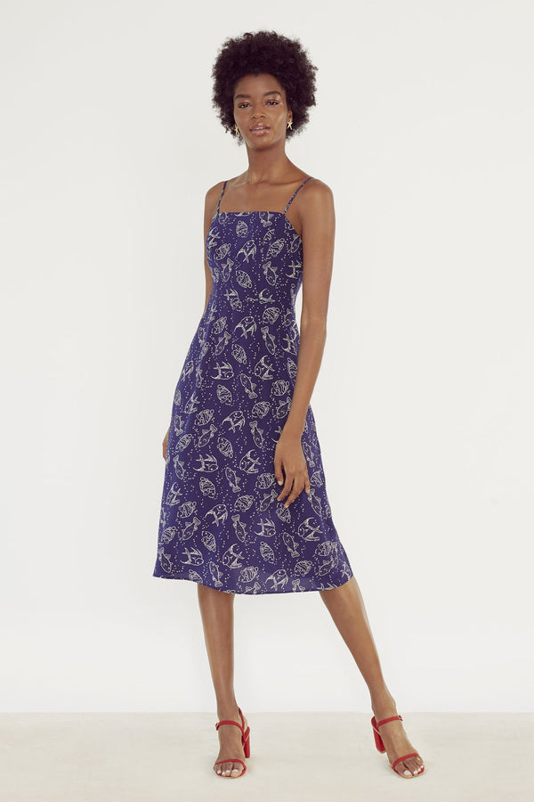 Navy Fish Nora Dress