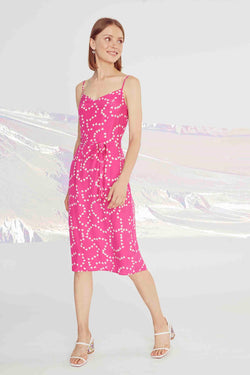 Hot Pink String of Hearts Lily Slip Dress