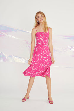 Hot Pink String of Hearts Nora Dress