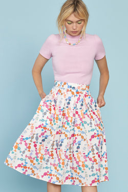Candy Hope Cotton Pleated Skirt