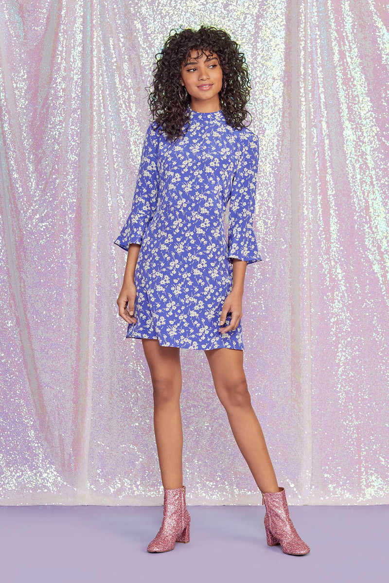 Purple Wildflower Mini Ashley Dress