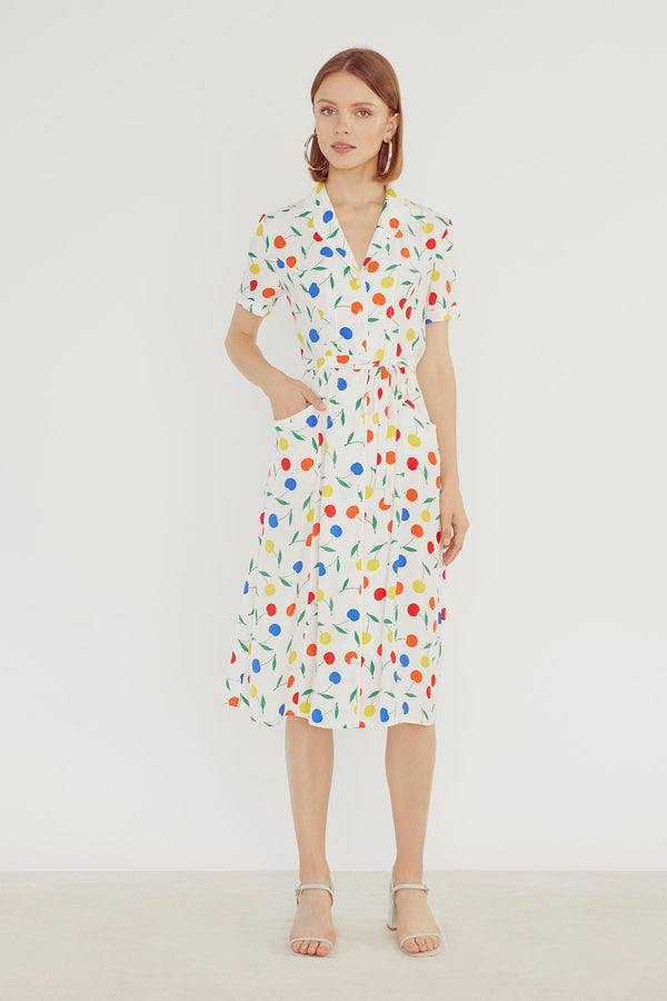 Rainbow Cherry Maria Dress