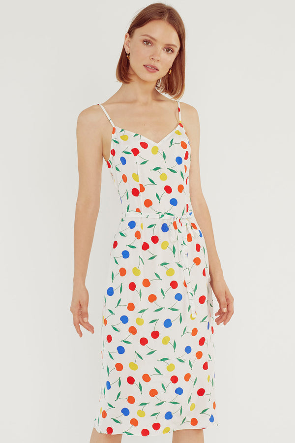 Rainbow Cherry Lily Slip Dress