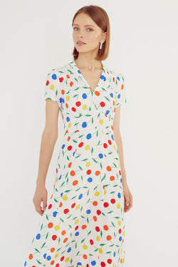 Rainbow Cherry Morgan Dress