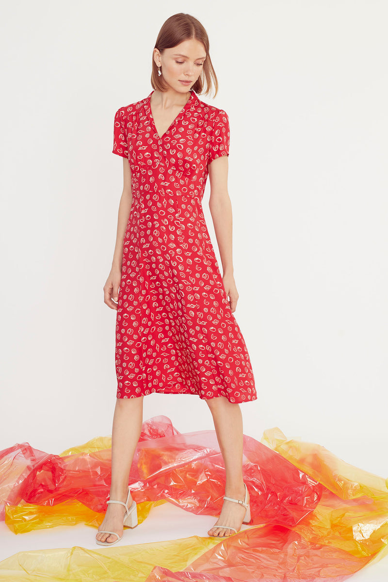 Red Shell Morgan Dress