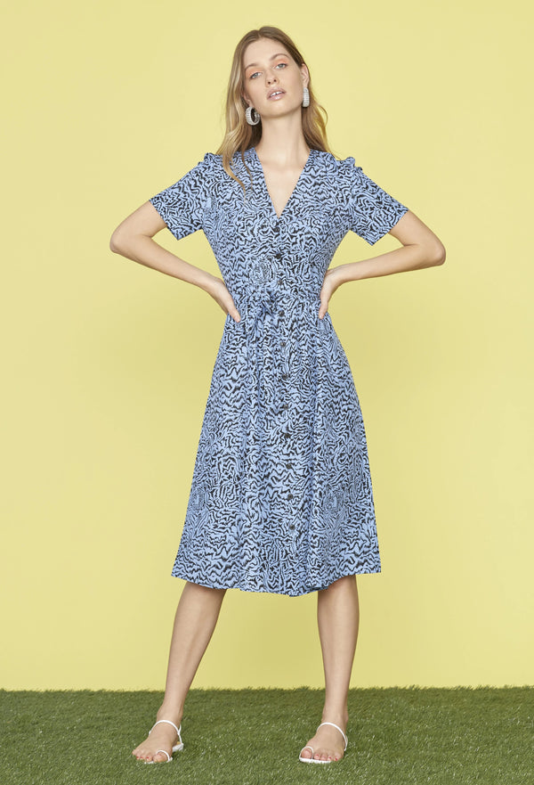 Blue Tiger Rosemary Dress