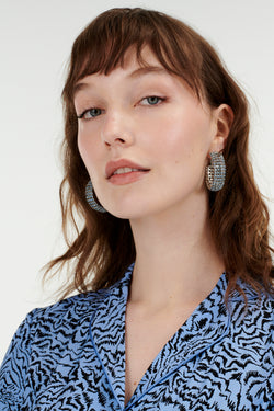 Denim Blue Jupiter Crystal Earrings
