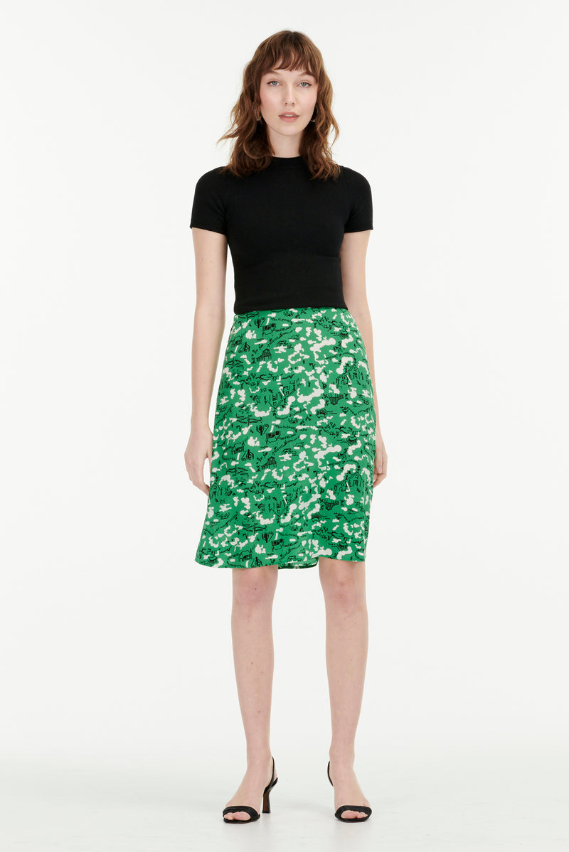 Green Montana Barn Wiona Slip Skirt