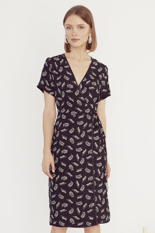 Tarzan Leopard Vera Wrap Dress