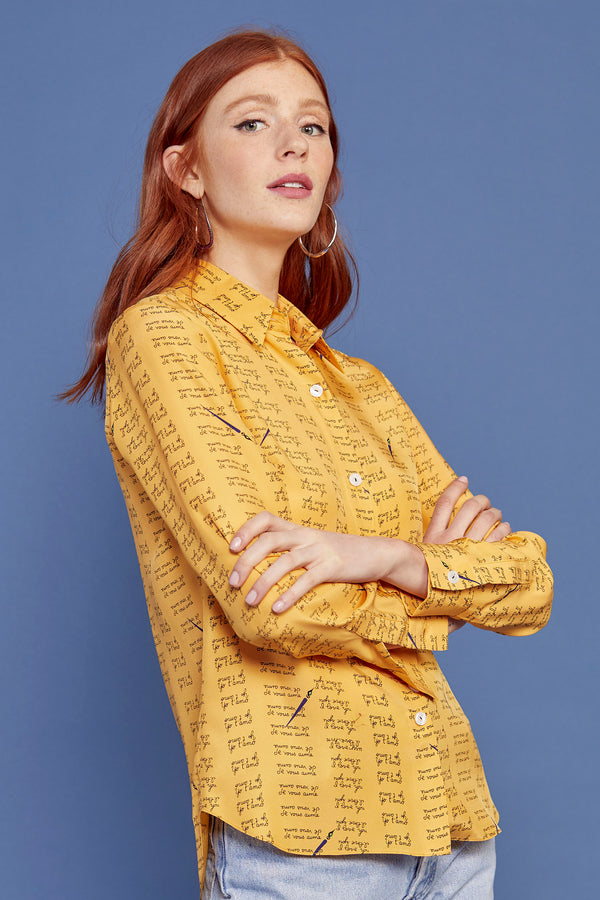 Yellow Love Notes Cristina Blouse