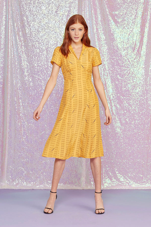 Yellow Love Notes Morgan Dress