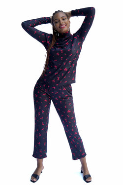 Black Cherry Sam Jersey Pajama Pant