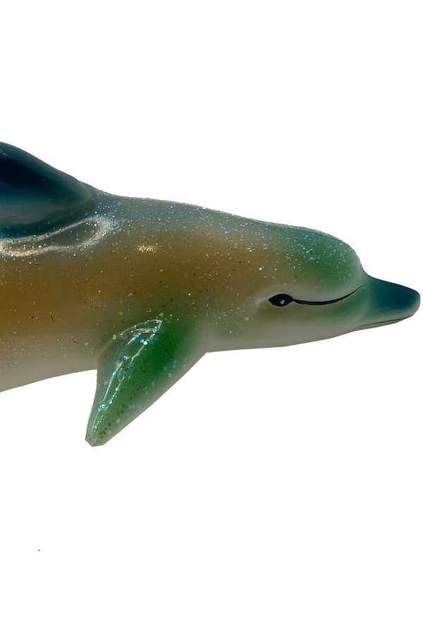 Dolphin Ornament Green