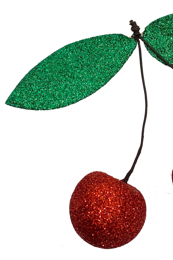 Glitter Cherry Ornament