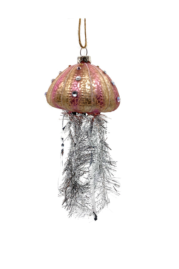 Tinsel Jellyfish Ornament Pink