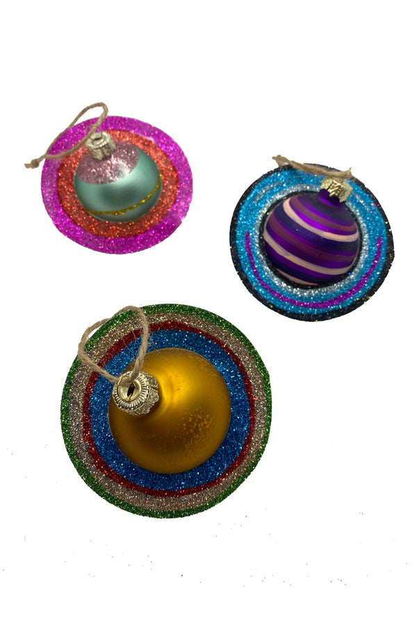 Saturn Set of 3 Ornaments