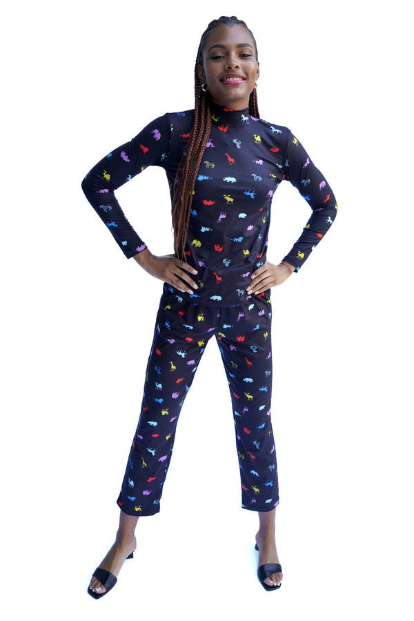 Rainbow Animal Sam Jersey Pajama Pant